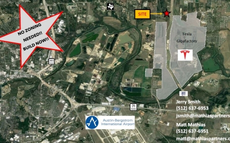 ±2.9 AC for Ground Lease or Build to Suit Site Near Tesla