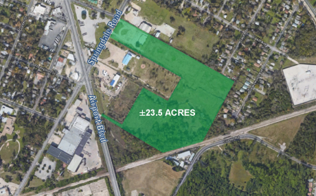 ± 23.5 AC at Springdale Rd. and Airport Blvd.